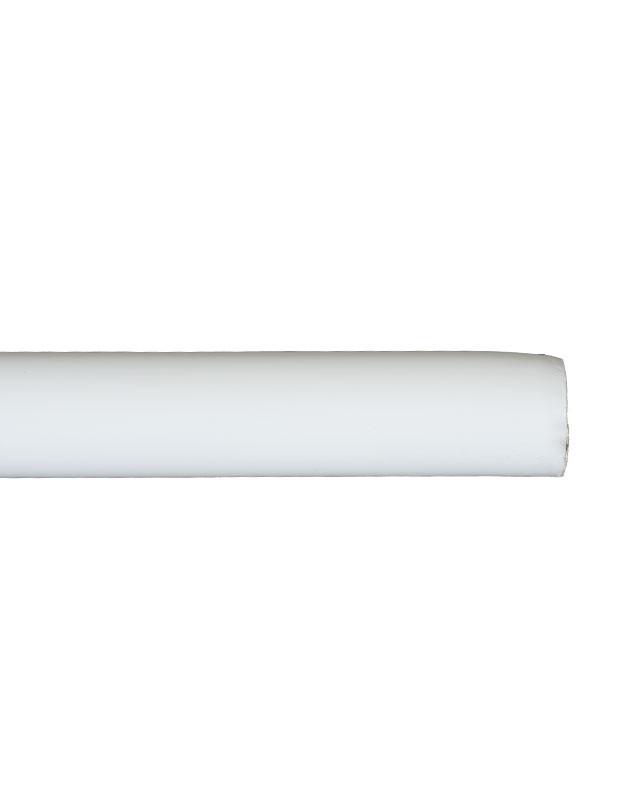 Trægardinstang profil 30 mm hvid - 7530