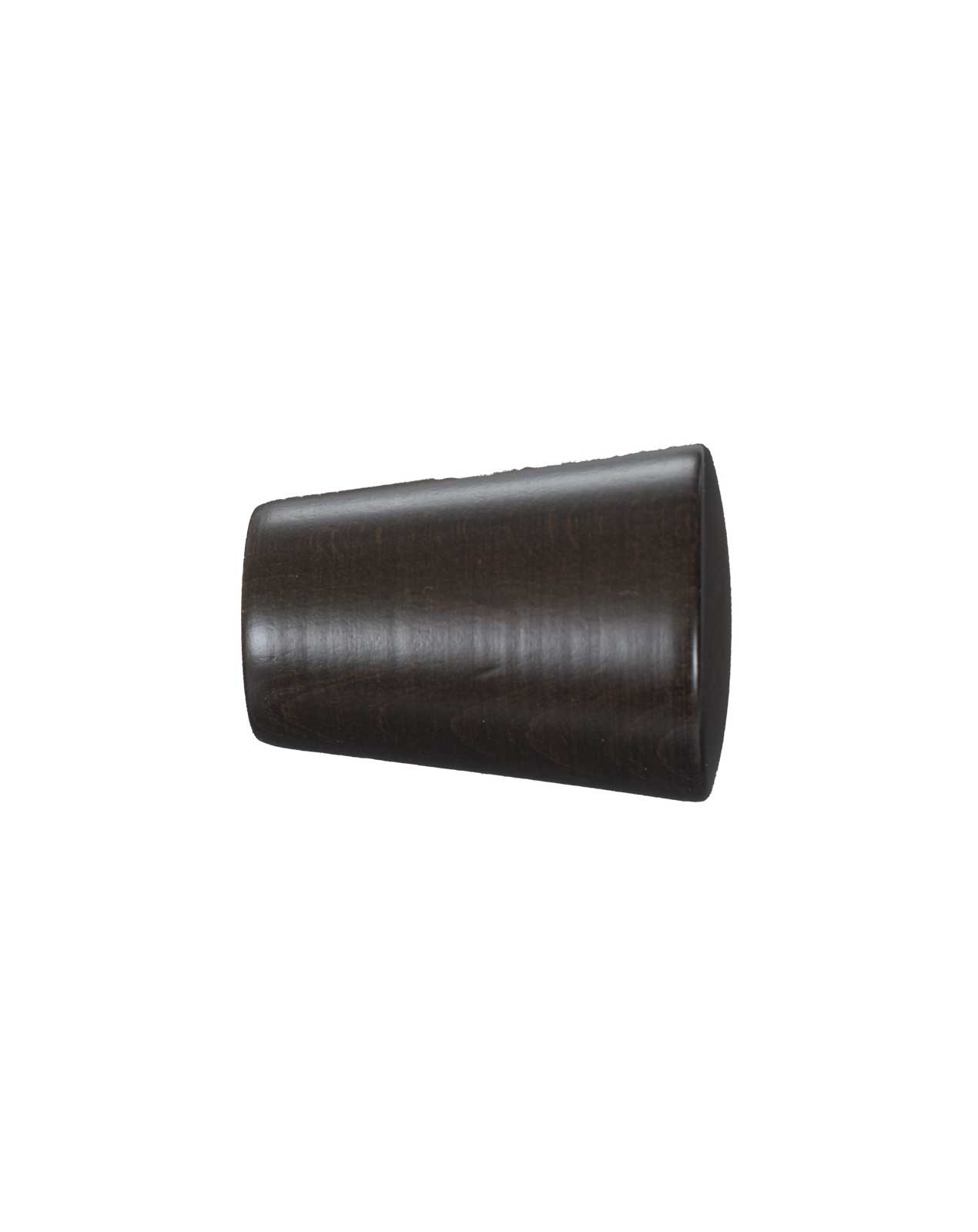 Knop Cono 19 mm sortbrun - 7523