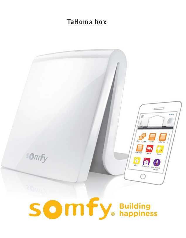 Somfy TaHoma er nem at installere og programmere og kan opgraderes og udvides til flere funktioner. Kompatibel med io homecontrol, RTS og RTD protokoller og Z-Wave * (* kræver Z-Wave USB-modul). Du kan styre alle dine Smart Home produkter uanset hvor du e