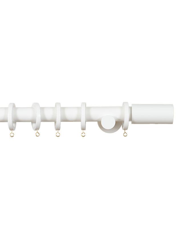 Trægardinstang Cilindro 30 mm hvid - 7502