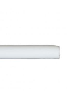 Trægardinstang profil 19 mm hvid - 7519