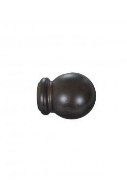 Knop Bola 19 mm sortbrun - 7521