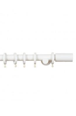 Trægardinstang Cilindro 19 mm hvid - 7501