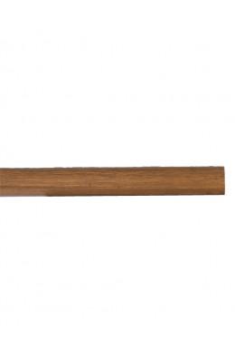 Trægardinstang profil 19 mm teak - 7519