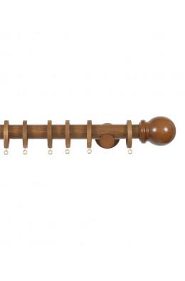 Trægardinstang Bola 19mm teak - 7505