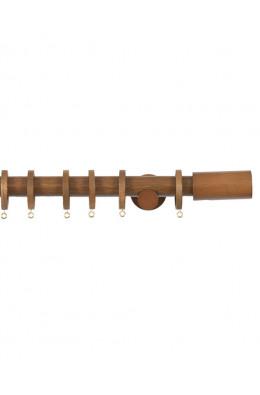 Trægardinstang Cilindro 19 mm teak - 7501