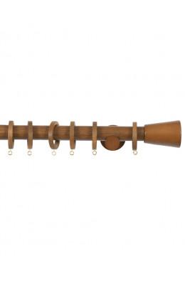Trægardinstang Cono 30 mm teak - 7504