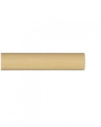 Trægardinstang profil 19 mm fyr - 7519