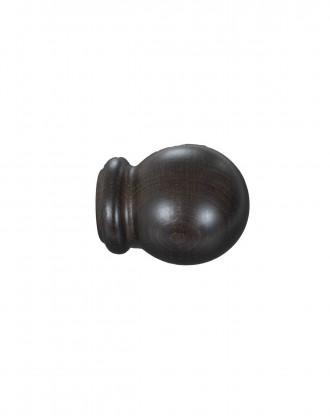 Knop Bola 30 mm sortbrun - 7531