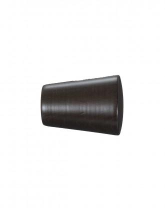 Knop Cono 30 mm sortbrun - 7533