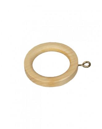 Træ gardin ring til 30 mm stang