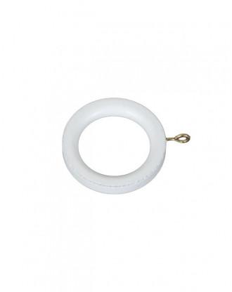 Træring hvidlakeret til 19 mm - 30 mm stang - 7538