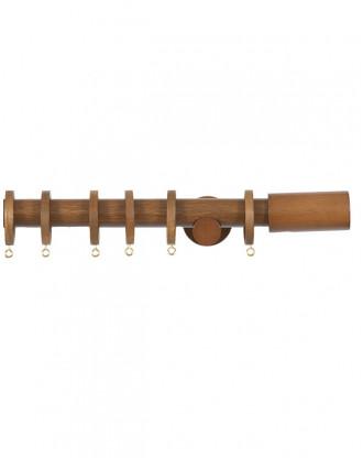 Trægardinstang Cilindro 30 mm teak - 7502