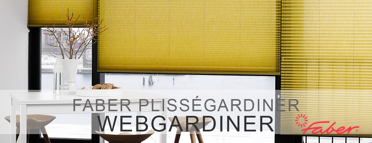 Plisségardiner up & down - snorbetjening